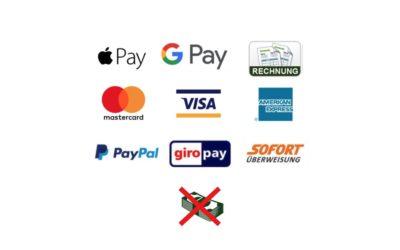 Unsere Zahlungsmethoden